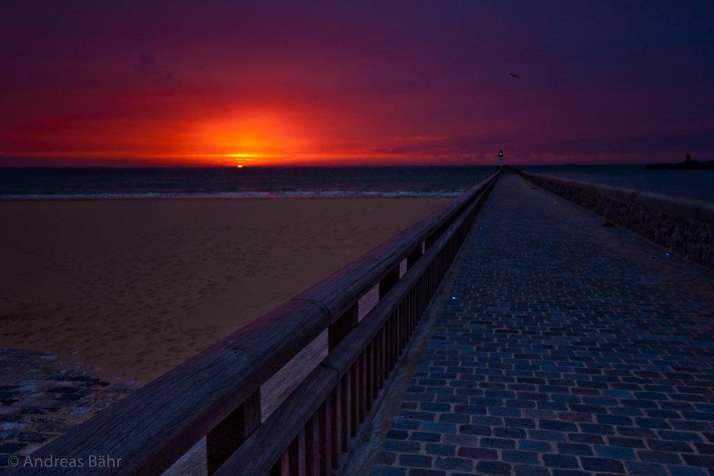 Sonnenuntergang in Calais